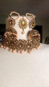 Gold Peach Indian Jewellery