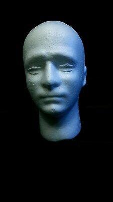 11 Male Styrofoam Foam Mannequin Head Wig Display Hat Glasses