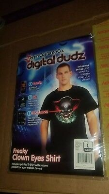 Digital Dudz Costume Freaky Clown Eyes Shirt (LARGE) Halloween morph (BRAND - Morph Kostüm Clown