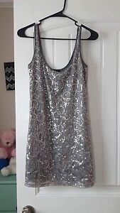 Size small, grey sequin dress