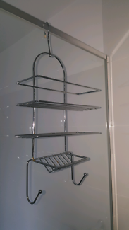 "CHROME SHOWER CADDY  "" AS NEW"""