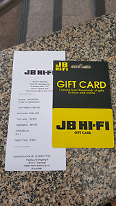 JB HI-FI gift card North Manly Manly Area Preview