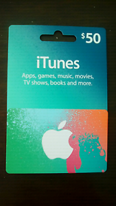 $50 iTunes gift card Bowral Bowral Area Preview