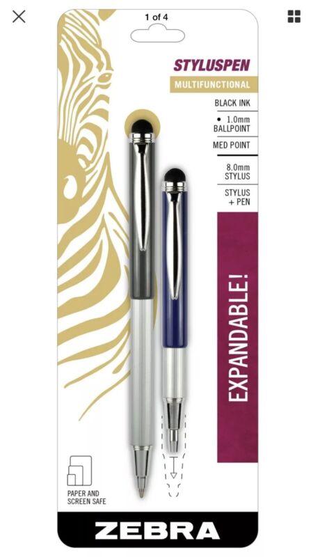 Stylus + Pen ZEBRA StylusPen Telescopic Ballpoint Medium Point 1.0mm Black Ink