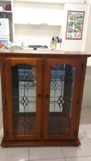 timber display cabinet Kallangur Pine Rivers Area Preview