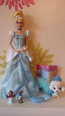 "**Disney Store Cinderella Classic 12"" Doll & Palace Pet Pumpkin"