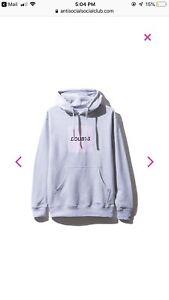 anti social social club - doubts grey hoodie