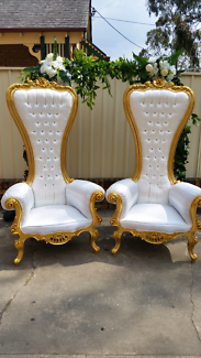 King and Queen Chairs For Hire