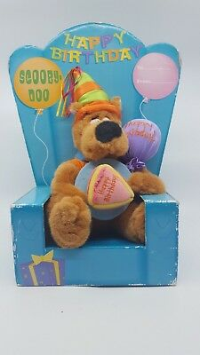"Scooby Doo Happy Birthday Plush 11"" Warner Bros. Studio Store Balloon Cake Toy"