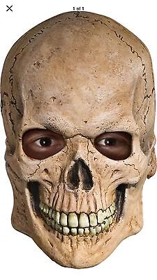 Crypt SKULL Skeleton Latex MASK Full Overhead Latex Scary Adult Men's - Scary Skeleton Masks