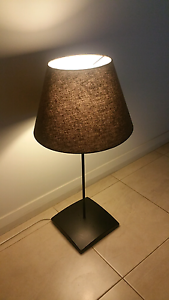 81cm tall table light , satin black and brown St Marys Mitcham Area Preview
