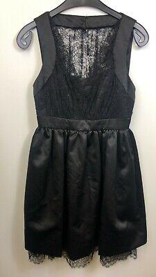 Jill Stuart Ladies dress Sleeveless LBD Black Lace A-Line Size US 0 UK 4