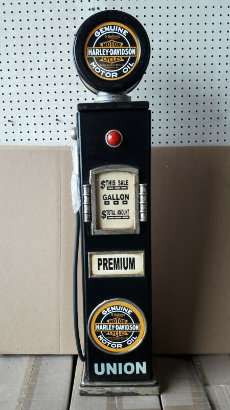 "42"" Harley Davidson Gas Pump Cabinet with light. Man Cave/Gameroom Decor."