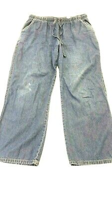 ERIKA WOMEN'S MED WASH BLUE STRAIGHT LEG CASUAL JEANS SIZE PL