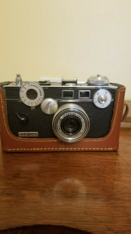 Vintage Argus 35mm Camera Art Deco with Leather case  C-3 Colormatic