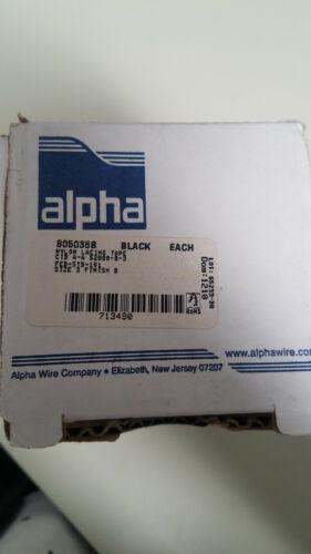 Alpha WIRE Black Nylon Lacing Tape. Size 3, Finish B