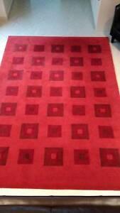 Red Designer Wool Floor Rug Bardwell Valley Rockdale Area Preview