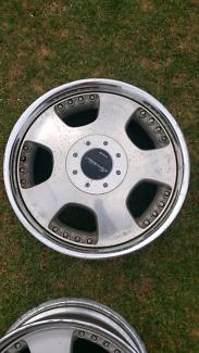 "Genuine set Work Euroline 17"" 4x100 5x100 jdm wheels rims"