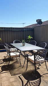 Outdoor Setting - 6 Chairs with cushions  -Glass table Morphett Vale Morphett Vale Area Preview