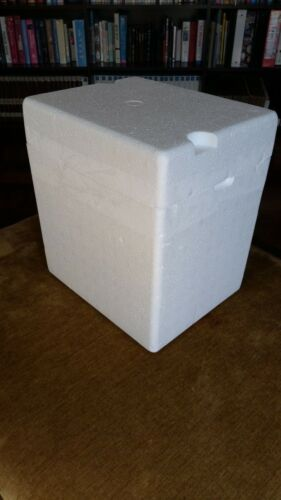 """Styrofoam Container Insulated Shipping Cooler Box 11 x 9 x 12"""" outer"""
