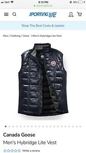 Canada goose hybridge vest brand new with tags and receipt