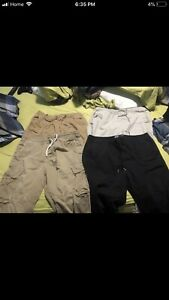 Men's khakis and adidas pants