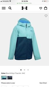 Brandnew size6-8 girl winter jacket  under armour