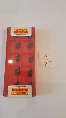 Sandvik Lathe Turning Insert - Diamond - Dcmx 07 02 08-wf 2 1.5 2 4215 - 10x