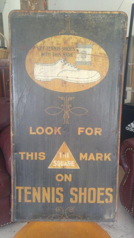 Antique Converse Tennis Shoe Sign