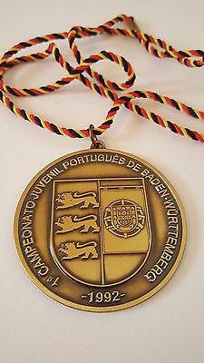 1 CAMPEONATO JUVENIL PORTUGUES DE BADEN WÜRTTEMBERG 1992 Medaille Abzeichen