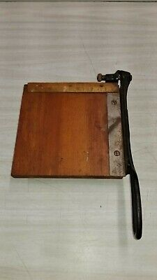 Vintage Diamond Brand Guillotine Paper Cutter 6x6.5 Guillotine Style