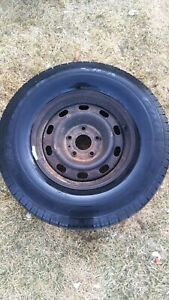 1 Goodyear Wrangler SR-A 17 Inch Tire and Steel Rim
