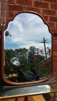 Antique ELEVATED beveled edge mirror  Denistone East Ryde Area Preview