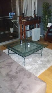 Solid Steel Antique / classic glass coffee table Woolloomooloo Inner Sydney Preview