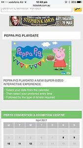 Peppa pig play date Adelaide Showgrounds ticket Adelaide CBD Adelaide City Preview