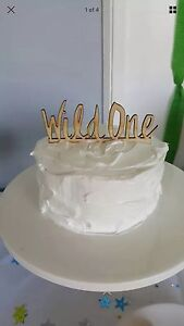 """Wild one"" wooden cake topper Warners Bay Lake Macquarie Area Preview"