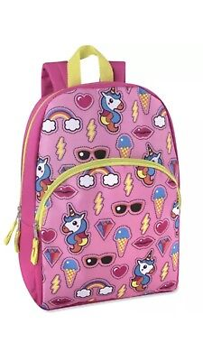 Girls Unicorn and Rainbows 15 inch Backpack NWT](Unicorn And Rainbows)