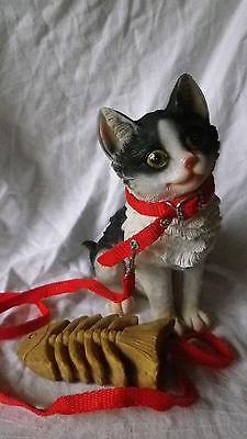 Türwächter mit Bewegungsmelder und Türstopper Kätzchen Katze mit Fischgräte