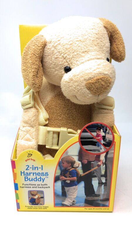 Gold Bug 2-in-1 Harness Buddy Backpack Monkey New 18+ months Toddler Travel Pack