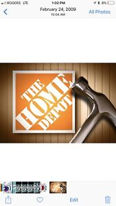 Buying all HOME DEPOT store credit gift cards cash