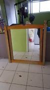 Large mirror in timber frame good condition Tewantin Noosa Area Preview