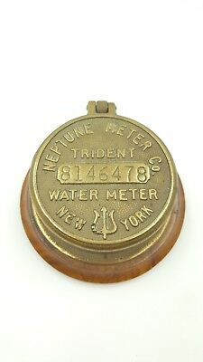 Hip Steampunk Trident Neptune Water Co Meter 58 Converted Table Trinket Box