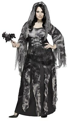 Fun World Cemetery Bride Ghost Plus Size Adult Womens Halloween Costume - Plus Size Womens Ghost Costume