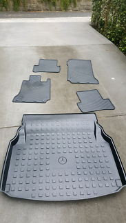 Mercedes C series W204 boot liner and rubber matts