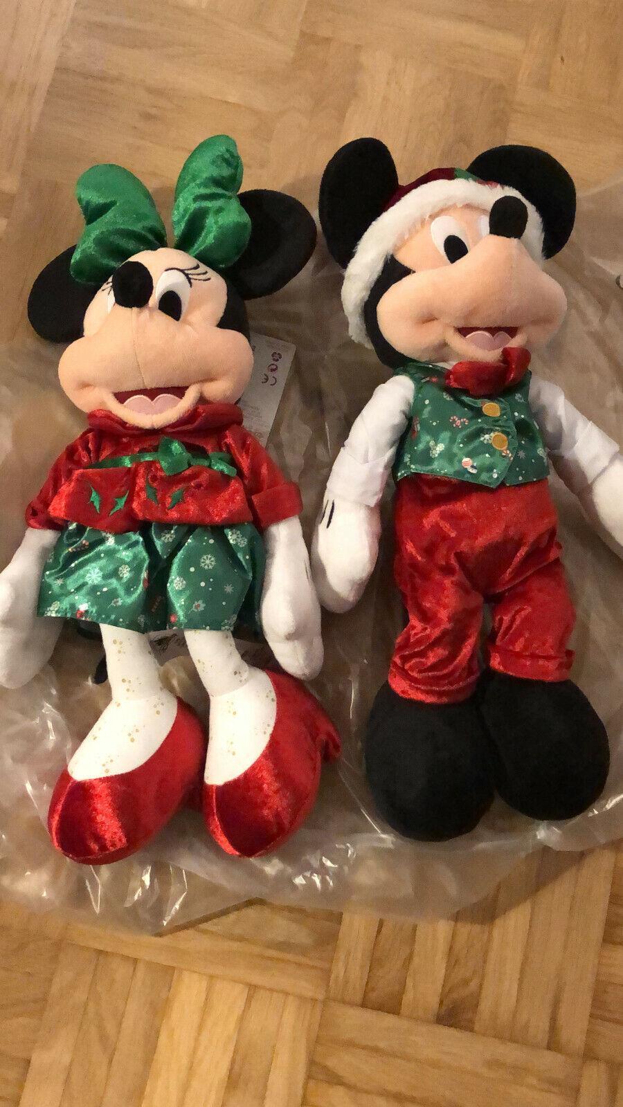 Original Disney Stoffpuppen Mickey und Minnie Weihnachtsedition