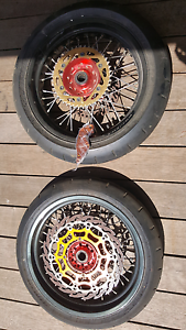 Supermoto wheels and tyres Grovedale Geelong City Preview