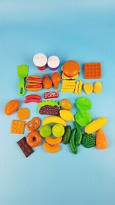 Pretend Play Food Toy Little Tikes Step 2 Grill Kitchen Fruit Veggie Meat 48 pcs