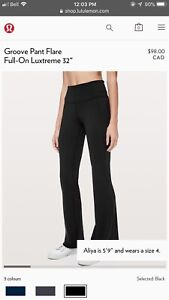 Lululemon Groove Pants Flare black size 6- Brand new condition