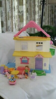 FISHER PRICE MY FIRST DOLL HOUSE WITH FAMILY FURNITURE ACCESSORIES 3 STORY 2005