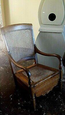 Oak Bergere Commode Chair, nursing chair